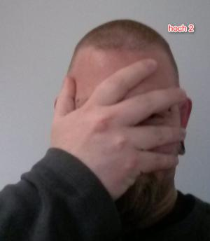 doppelte Gesichtspalme mit der DKB...